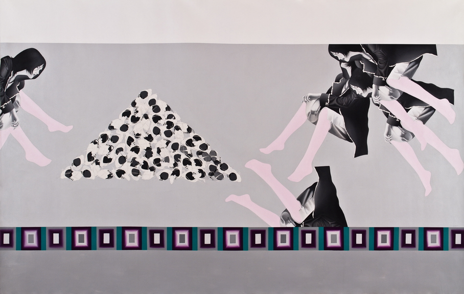 Sahar Safarian, Acrylic on canvas, 204x323 cm, 2009