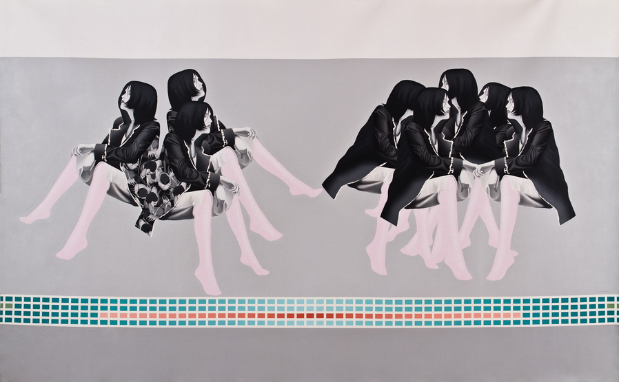 Sahar Safarian, Acrylic on canvas, 204x330 cm, 2009